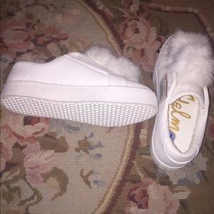 Sam Edelman Fur Top Sneakers